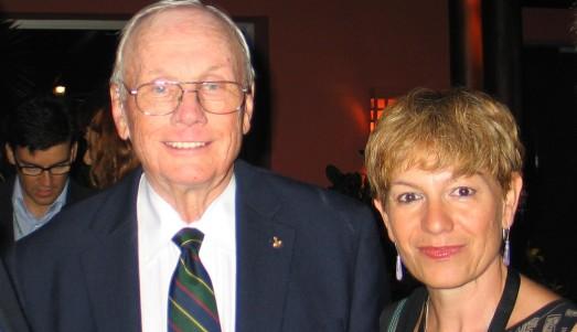 Neil Armstrong y la autora, en Tenerife en junio de 2011