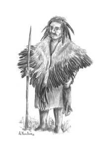 Neandertal con plumas