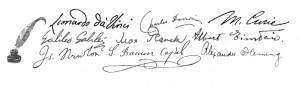 Firmas de científicos
