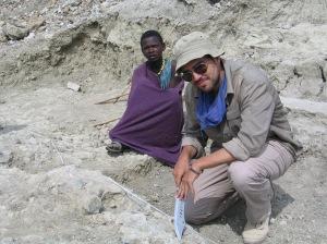El arqueólogo Policarpo Sánchez, en 2010, en el yacimiento SHK. |Rosa M. Tristán