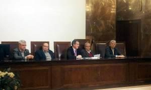 Acto en el CSIC con Mateo Valero, García-Bellido, Jesús Ávila y Arsuaga