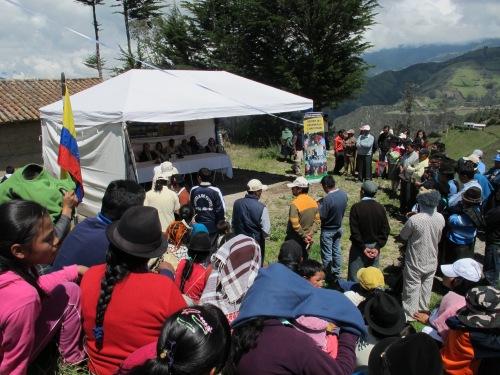 Inauguración de un proyecto de agua de Manos Unidas en Chugchilán (Ecuador). Rosa M. Tristán