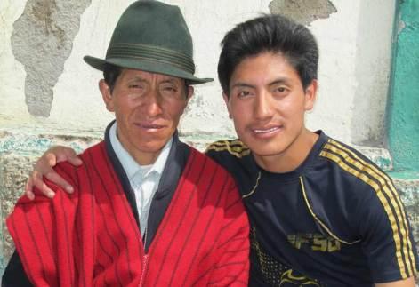 Segundo Roldán y su hijo Wilfredo. |R.M. T.