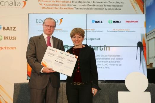 Recogiendo el Premio TECNALIA 2012