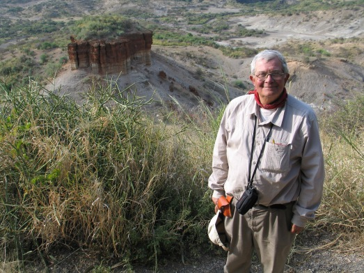 Alfredo Pérez en la Garganta de Olduvai. |Rosa M. Tristán