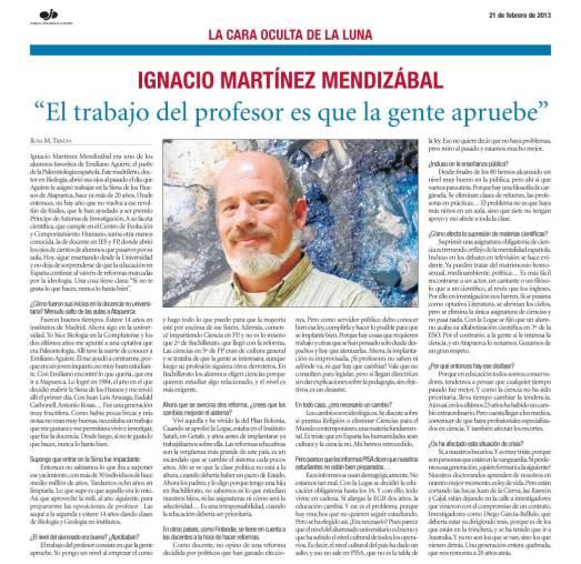 Entrevista con Ignacio Martínez Mendizábal