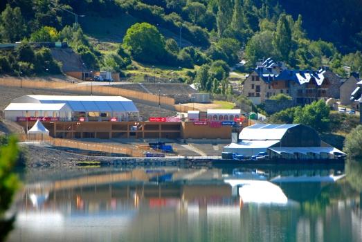 Escenario de Lanuza, del Festival Pirineos Sur.
