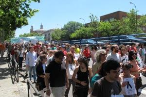 Manifestación por La Castellana.