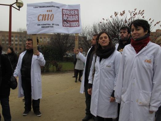 Manifestación de científicos, en diciembre, en protesta por lo que ya sabían que eran presupuestos insuficientes| RMT