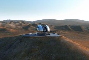 Recreación del Telescopio Extremadamente Grande (E-ELT).