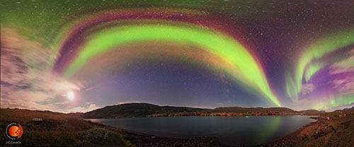 Aurora boreal, junto al albergue de Tierras Polares en Qasiussaq, de Juan Carlos Casado (SHEILOS-GLORIA)