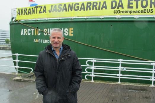 Daniel Rizzoti, uno de los capitanes del Artic Sunrise. |ROSA M. TRISTÁN