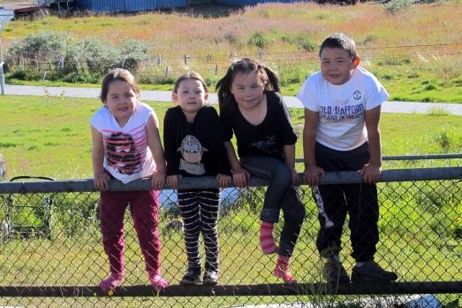 Niños inuit en Qaqortoq. |R.M.T.