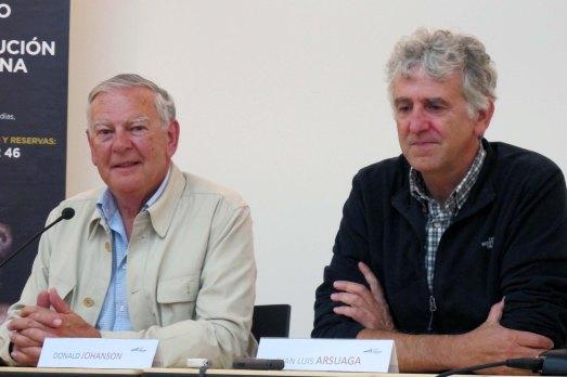 Donald Johanson y Juan Luis Arsuaga, en el Museo de la Evolución Humana. |Rosa M. Tristán