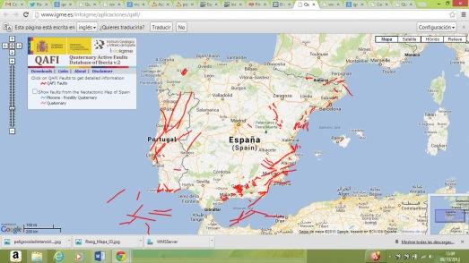 Mapa del IGME de 2011.