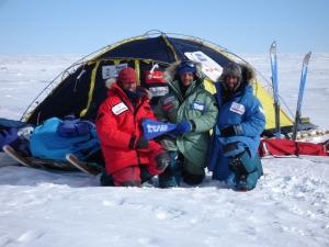 En el Polo Sur de inaccesibilidad con el Trineo de Viento