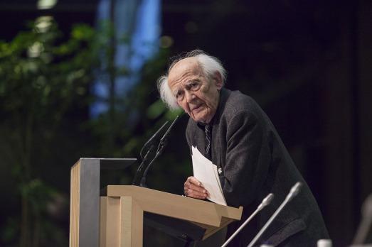Zygmunt Bauman, en la Fundación Rafael del Pino. |@Fund. Rafael del Pino