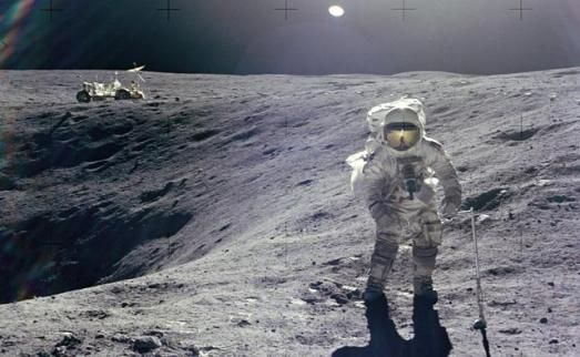 El astronáuta Charlie Duke, en la Luna, en 1972.