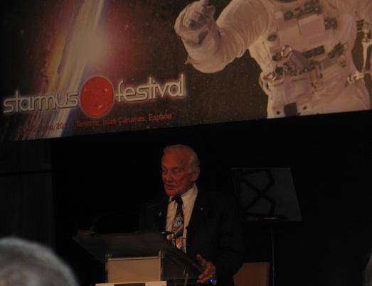 Buzz Aldrin en Starmus 2011. |ROSA M. TRISTÁN
