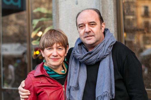 La autora con Jesús Maraña, director de InfoLibre @Teresa Rodríguez