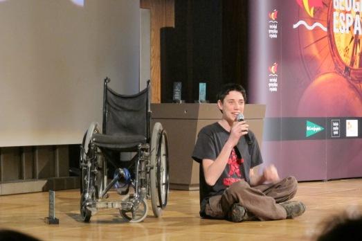 Albert Casals, Premio Viajero del 2013, a sus 21 años.  ROSA M. TRISTÁN