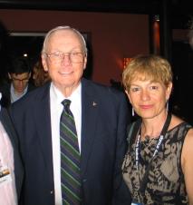 Con Neil Armstrong, en Starmus