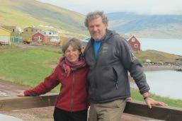 En Groenlandia, con Ramón Larramendi, explorador polar.