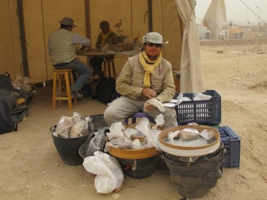 Francisco L. Borrego (Curro) en la excavación|R.M.T.