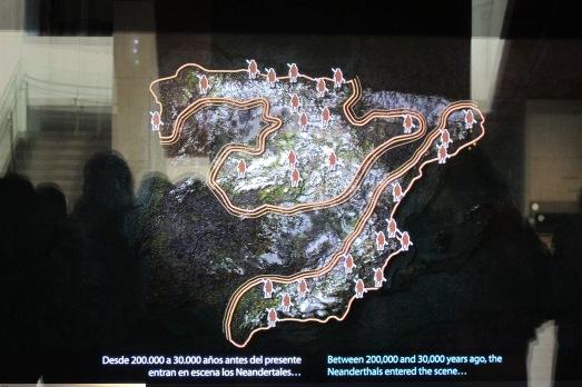 Yacimientos neandertales en España.