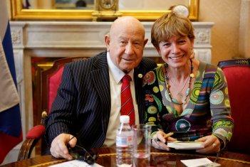Con Alexei Leonov, el cosmonauta.