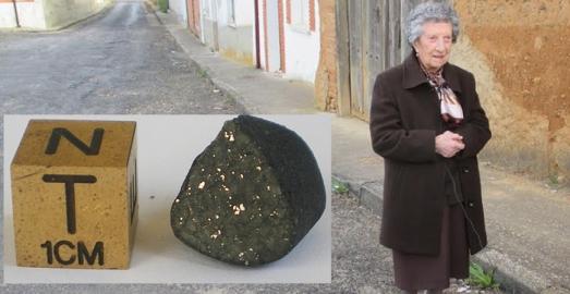 Rosa Gonzale zPerez, de 94 años, que encontró el meteorito con 11. |CSIC