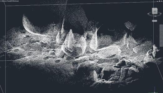Nube de puntos de Cueva de La Enfermería (Pelayos de la Presa)