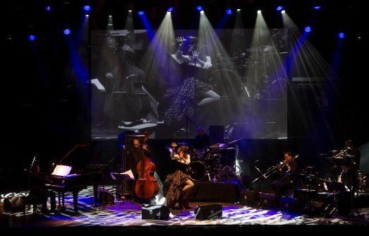 Carmen Paris, en el Festival Pirineos Sur 2014.