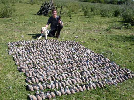Una de tantas fotos de internet, en las que un cazador se vanagloria de sus capturas.