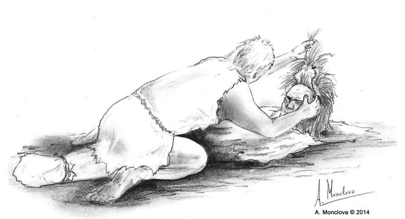 Ritual en la Sima del Ángel.  A.Monclova