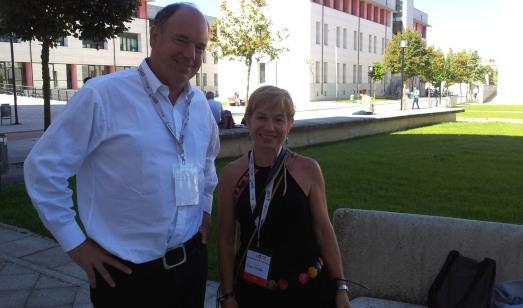 Cnn el 'sapiens' Nick Conard, en la sede del Congreso de la UISPP, en el campus de Burgos.