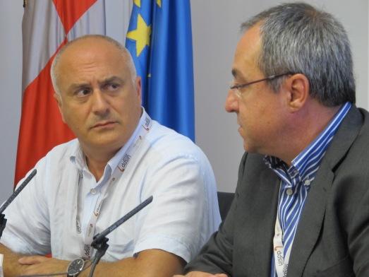 David Lordkipanidze, director del proyecto en Dmanisi, con Robert Sala, de Atapuerca, en la rueda de prensa.|R.M.T.