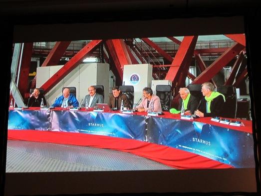 Cunningham, Wilson, Rebolo, Williams, Israelian, Kroto y Mather, en el GTC, durante la mesa '108 minutos' | R.M.T.