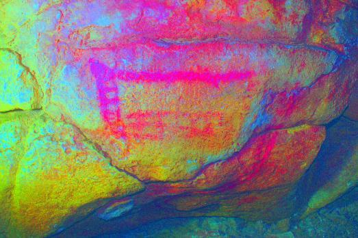 Misma pintura con análisis mutiespectral. |ASFIMAGEN