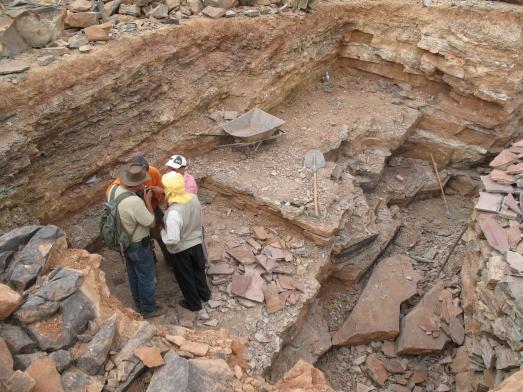 Yacimiento del sur de Marruecos donde han sido encontrados los fósiles.| J.C. GUTIÉRREZ-MARCO.