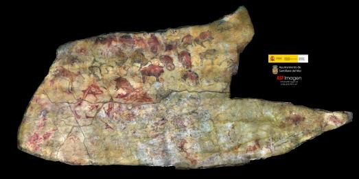 Ortoimagen de la Sala de Polícromos de la Cueva de Altamira. |ASFIMAGEN