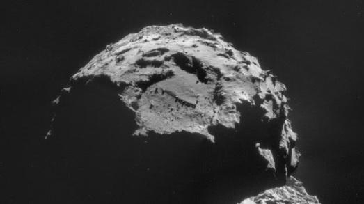 Foto del punto Agilkia, en el cometa, tomada desde Rosetta el día 6. |ESA