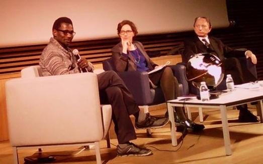 Ismael  Diadié, durante la conferecia en el Centro Cultural Conde Duque. |R.M.T.