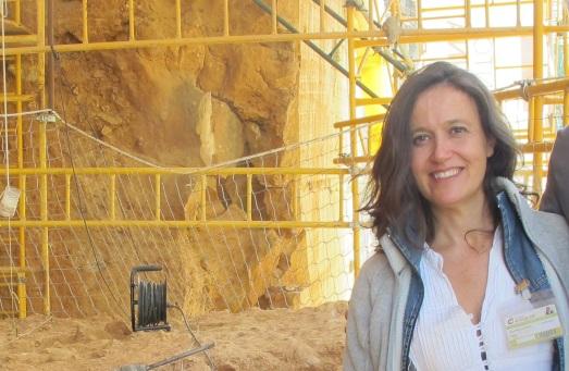 María Martinón-Torres, en La Galería de Atapuerca, el verano pasado. |R.M.T.