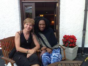 La autora don la nigeriana Wunmi en 2014. En Pirineos Sur, compartir con grandes  artistas es uno de los privilegios que ofrece el festival. @ALICIA LUNA