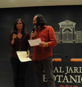 Los periodistas Mara Torres y Luis Miguel Domínguez.