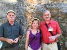 La autora, junto a Eudald Carbonell y José María Bermúdez de Castro.