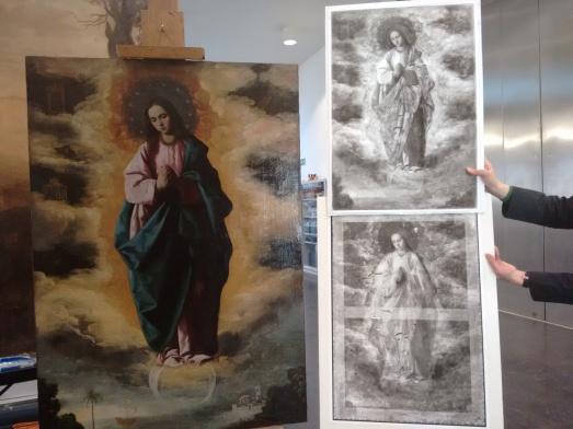 Radiografía de las obras, utilizadas por los restauradores. @RosaTristán