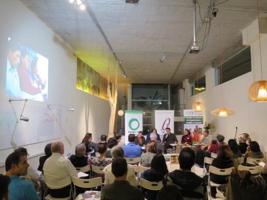 Acto en Madrid, en el que intervinieron los guatemaltecos por Skype, Joaquín Araújo, Luis Miguel Domínguez y las ONGs.