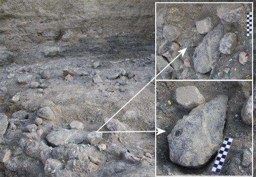 Impresionante bifaz de hace 1,7 millones de años, encontrado en Olduvai por un equipo español. @FERNANDO DÍEZ MARTIN